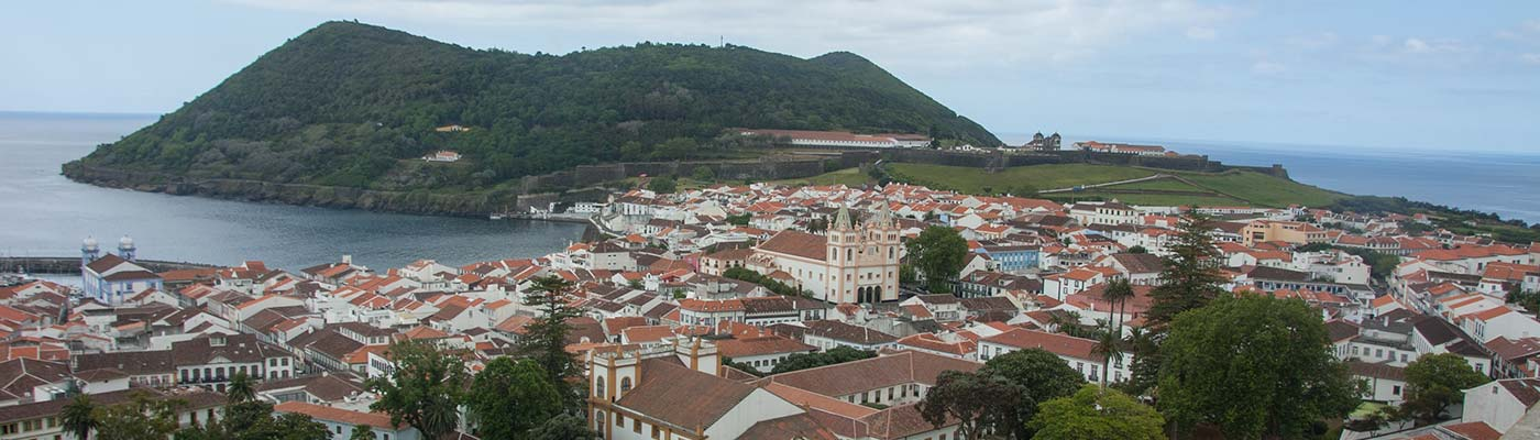 Aerial view of Terceira.