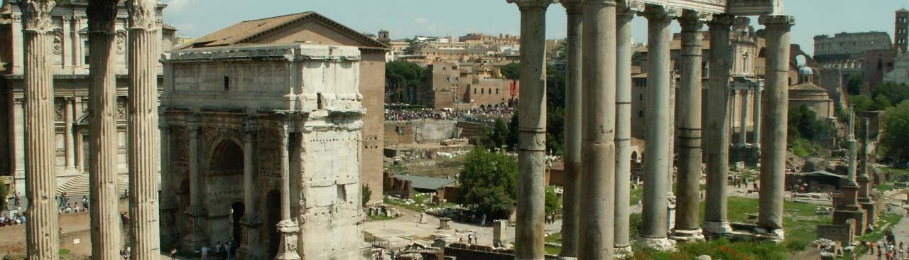 Ruins in Rome.